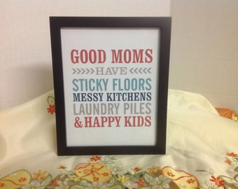 Good Mom's Subway Art , Mother's Day , Gift  , Love , Decor , laminated