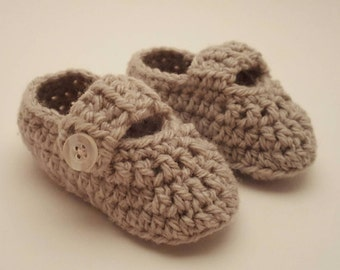 Infant Crocheted Mary Jane Booties