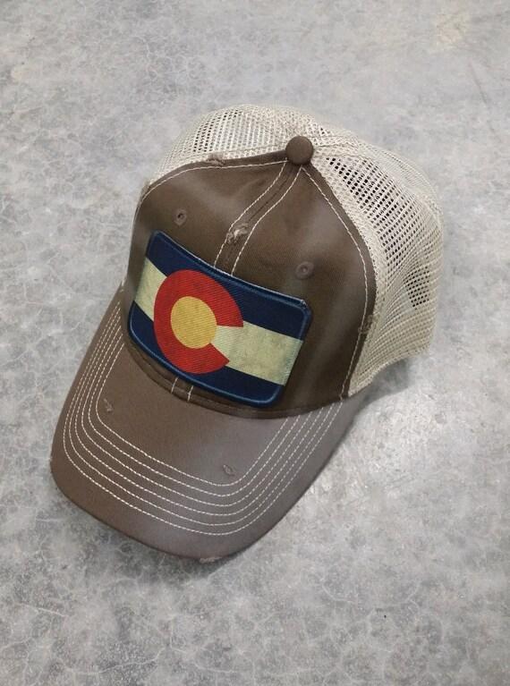 colorado flag baseball trucker mesh cap hat by tshirteesonetsy