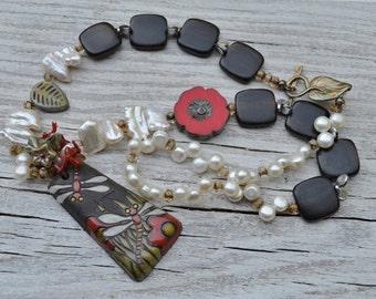 Dragonfly pendant necklace Golem - DayLilyStudio