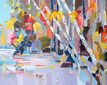 Original Oil painting landscape Modern Art