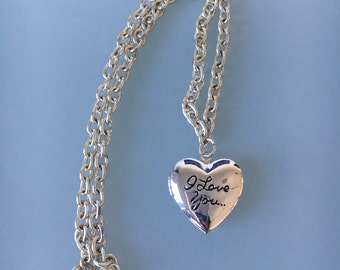 Silver Plated Locket with Chain