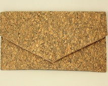 Cork Clutch Wood Eco Friendly Purse Vegan bag Handmade bag Gift for Her Valentines Day Gift Valentines Gift Cork Bag Cork Purse