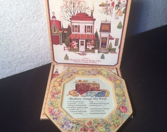 Vintage Avon Hospitality Sweets Recipe Plate Blueberry-Orange Nut Bread