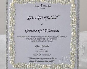 Bridal Shower Invitation/Prom invitation/Wedding Invitation/Anniversary Invitation/ Quinceanera Invitation/Engagement Invitation