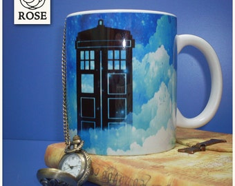 Mug - Doctor Who | Tardis - Beyond the clouds