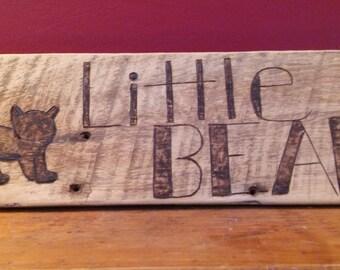 Little Bear Barnwood Wall Art