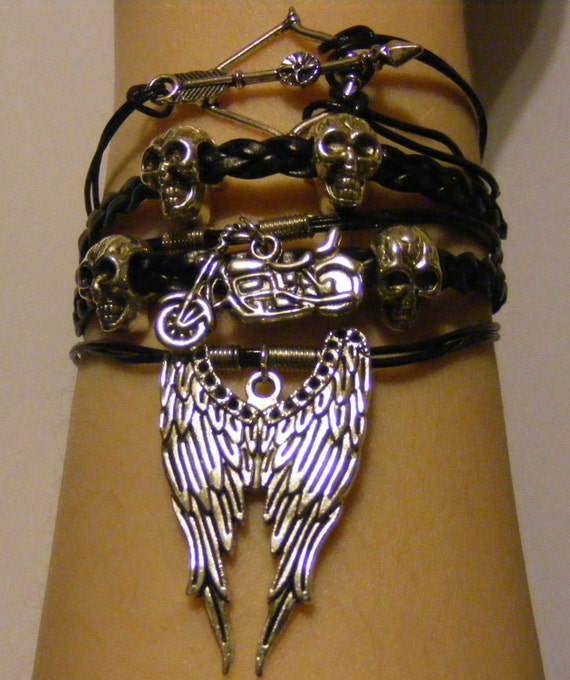 Bracelet Dead à pied, walking dead bijoux, daryl dixon bracelet, daryl bijoux dixon