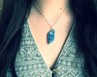 Blue Kyanite Natural Stone Necklace