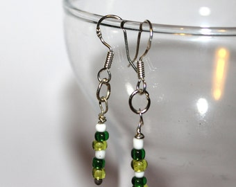 Beaded Earrings - Green - Comes with Gift Bag
