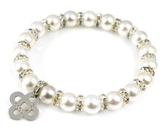 Goodness Charm Pearl Bracelet
