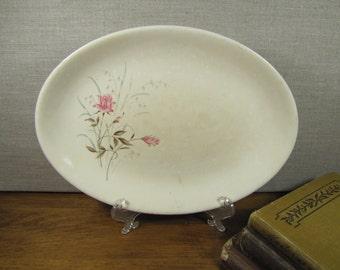 Vintage Small Serving Platter - Pink Roses