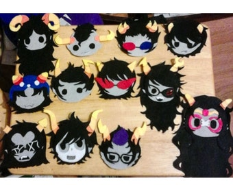 Homestuck Felt Pins