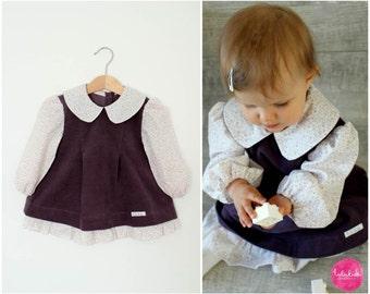 Corduroy dress corduroy dress baby dresses cotton dress girls dress long sleeve dress corduroy