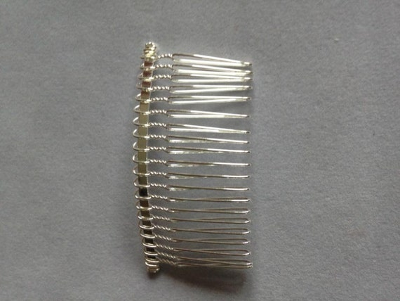 5 metal beading hair combs jewellery making silver gold black for Metal hair combs for crafts