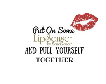 Put On Some Lipsense and Pull Yourself Together White Coffee Mugs