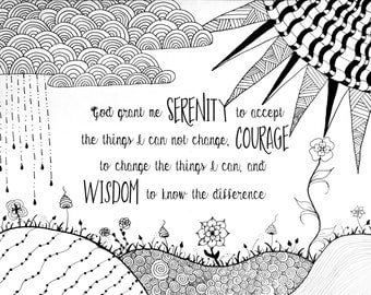 Serenity Prayer Coloring page