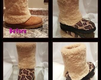 Bling UGG boots- custom UGG boots- bling uggs- custom uggs- animal print uggs