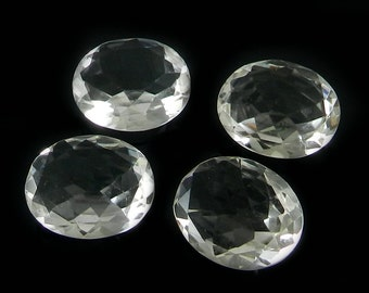 On sale - 1 pc - Natural - Crystal quartz - 16x20mm - Oval cut - Facet for prong set - Semi precious stone - Loose Gemstone - SHST0490