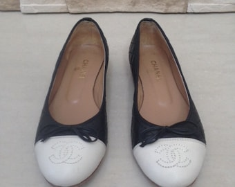 Chanel Ballet Flats Shoes - Size 37 / UK 4