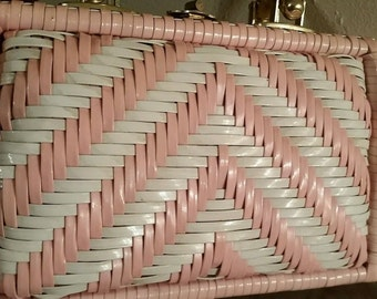 Rare Pink Wicker VTG Bag by Simon