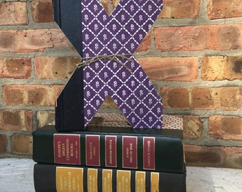 Letter X!!  Custom Made Just For YOU!!!!  Letters created from actual Hardcover Books!!