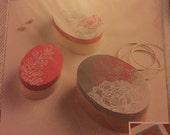 Adhesive silkscreens, 8 designs, flowers, leaves, gift ideas, destash, destash sale