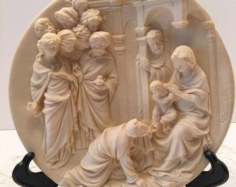 A Santangela Limited Edition Collectible Plate~ L Adorazione Dei Magi ~ Adoration of the Magi ~ Made in Italy