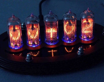 5-tube Nixie Clock V1 (assembled with paxolin top)