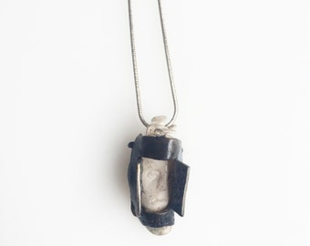 Sterling Silver Caged Necklace
