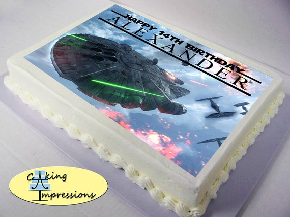 Star Wars Birthday Party Edible Image Cake Toppers  Birthday Wikii