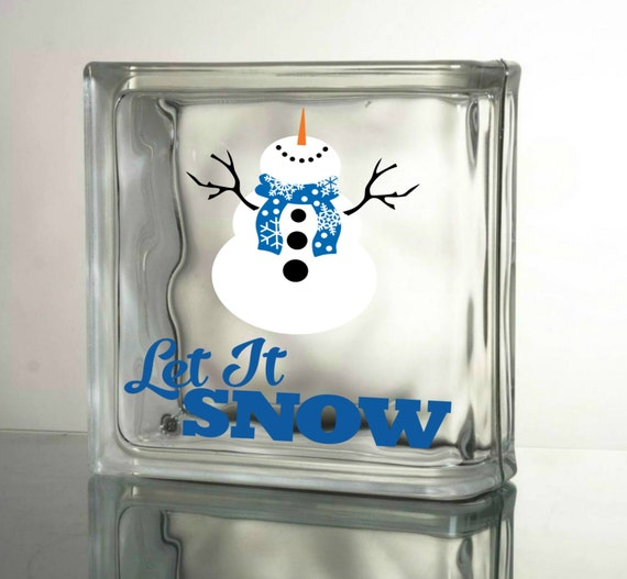 Let it snow snowman vinyl decal christmas decals by for Quality craft vinyl plank reviews