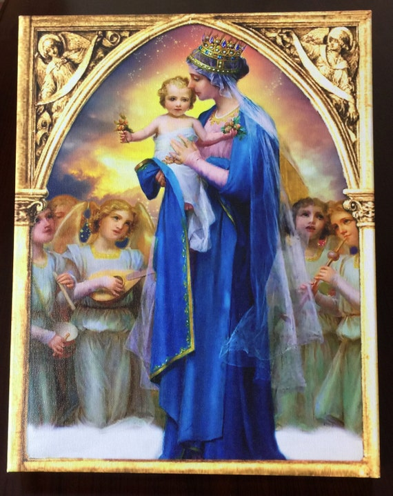 items similar to virgin mary queen of heaven angels
