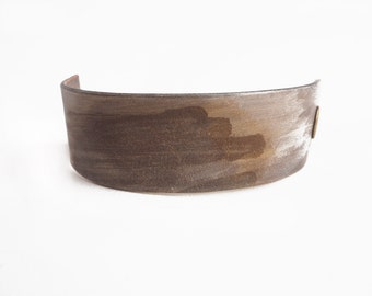 pale plum leather braclet simple black bracelet made of vegetable tanned leather Hand dyed leather bracelet