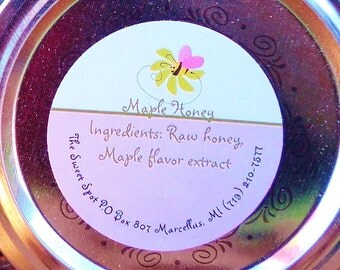 Maple Honey 8 oz glass jar