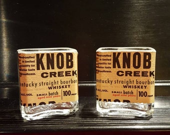 Knob Creek whiskey shot glasses (set of 2)