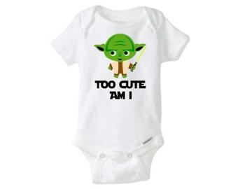Baby Onesie- Yoda Star Wars Too Cute Am I