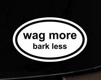 Wag More Bark Less-Dog-iPad-Vinyl-Car-Window-Decal-Sticker-Puppy Pit Bull