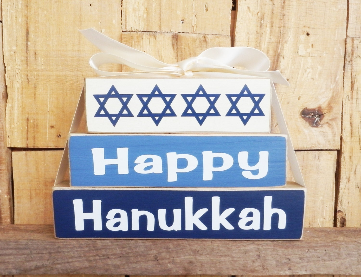 Happy Hanukkah Small Blocks Wood Sign Wood Blocks Holiday