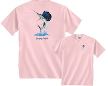 Jumping Sailfish wave billfish Fishing T-Shirt FREE SHIPPING in usa