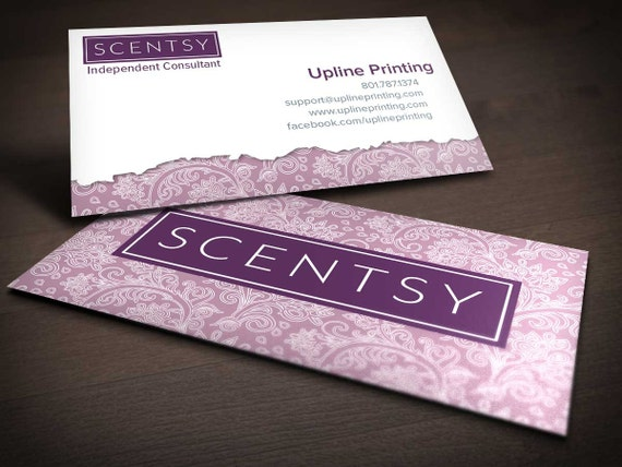 Scentsy Paisley Business Card by UplinePrinting on Etsy