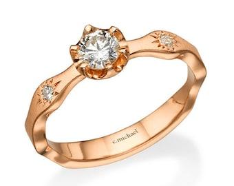 Rose gold engagement ring, Rose gold diamond ring, Rose gold rings, Engagement ring, Promise Rings , Diamond Engagement, Diamond ring, Rings