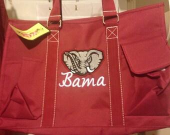 Alabama Crimson Tide Organizer Tote Bag - 2 Color Choices - Roll Tide