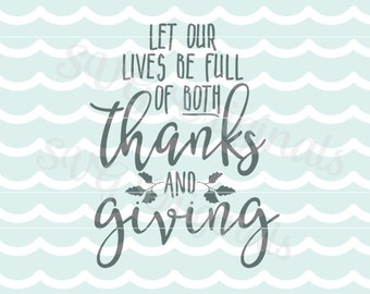Thanksgiving SVG Thankful SVG Vector file. Cricut Explore and more! So many uses! Happy Thanksgiving!