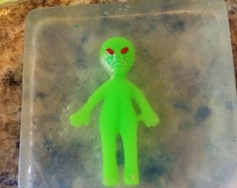 Glow in the dark alien soap!