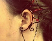 Elf Ear Cuff Fantasy Ear Cuff Cat Pixie Fairy Dragon Serpent Hand-Made Earring Jewelry Nickel Free No Piercings Required