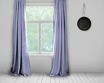 Plain Linen Curtains- Lined- Lavender- Made to Measure Curtains- Bespoke Curtains- Linen Curtains- Purple Curtains- Large Curtains- Lilac
