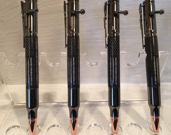 Thin Blue Line Bolt Action Pen, Police Pen, Fathers Day Gift