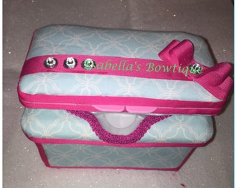 Double wipe pink and blue wipe cases
