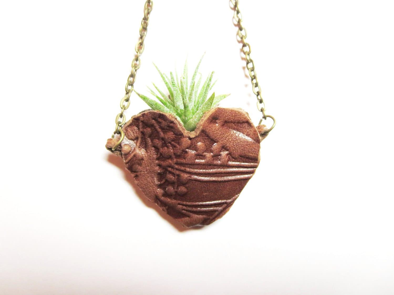 live plant necklace air plant necklace miniature terrarium